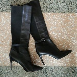 Via Spiga Leather Stiletto Boot